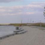 Seebad von Illmitz im Herbst